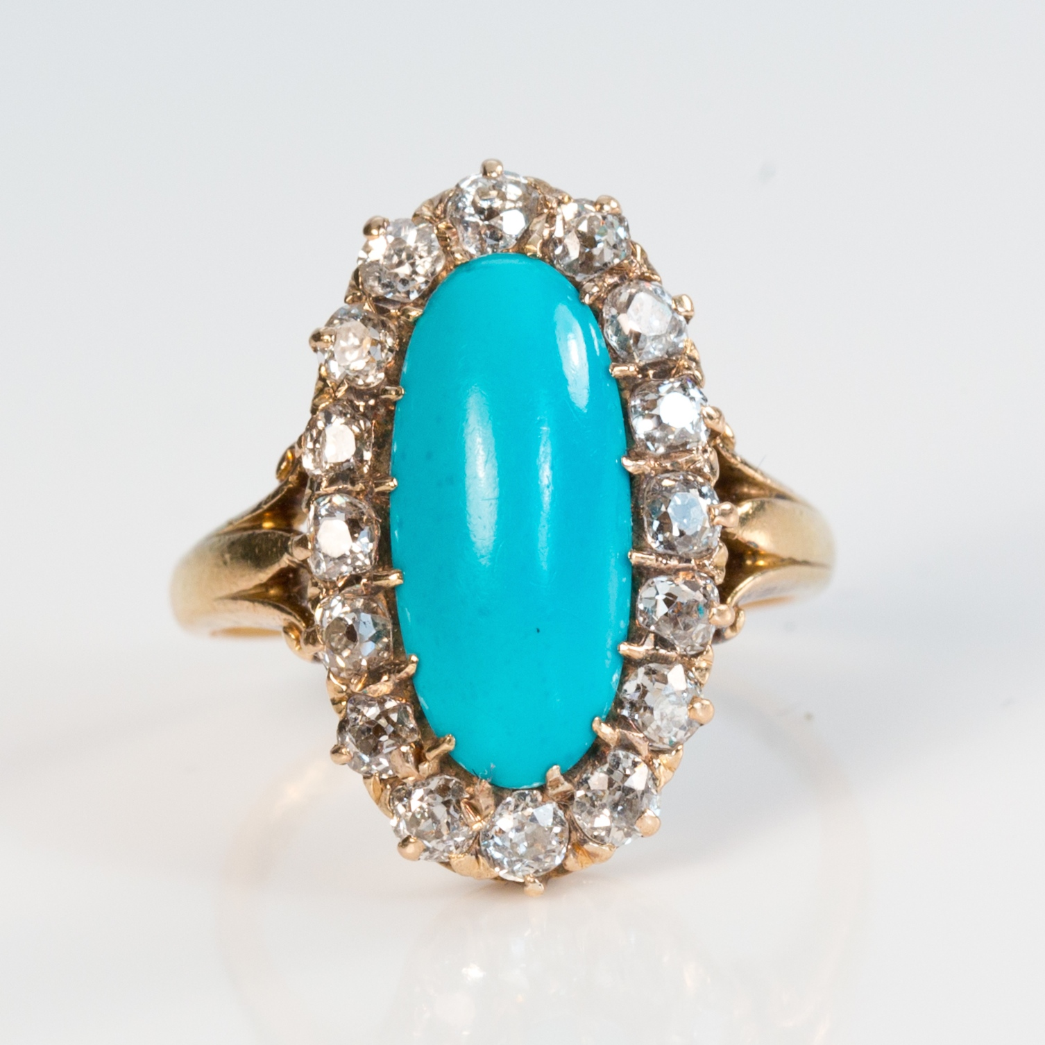 estate beckers turquoise doron and ring designer doublet white halo jewelers gold paloma diamond by