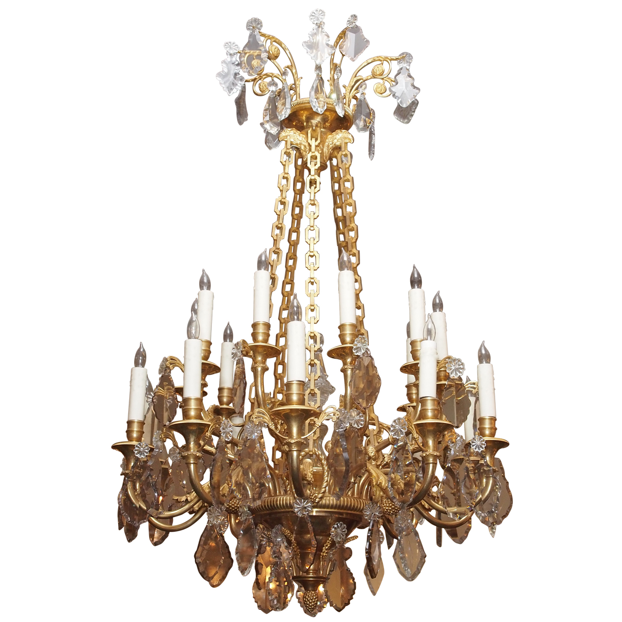 Antique French Ormolu and Baccarat Chandelier circa 1850-1870 - Antique French Ormolu And Baccarat Chandelier Circa 1850-1870