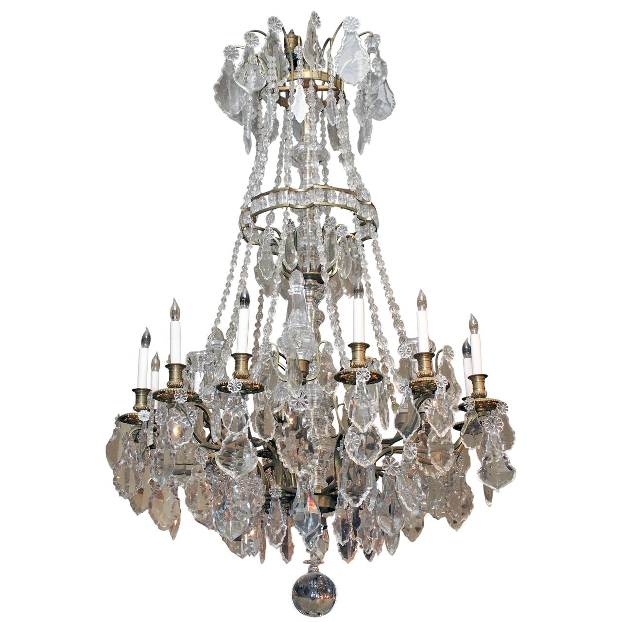 Antique French Louis XVI Baccarat Crystal Chandelier - Antique French Louis XVI Baccarat Crystal Chandelier Keils
