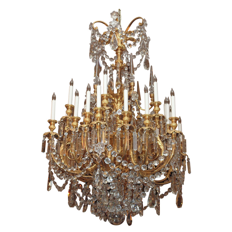 Antique Baccarat and Ormolu Crystal Chandelier - Antique Baccarat And Ormolu Crystal Chandelier Keils Antiques