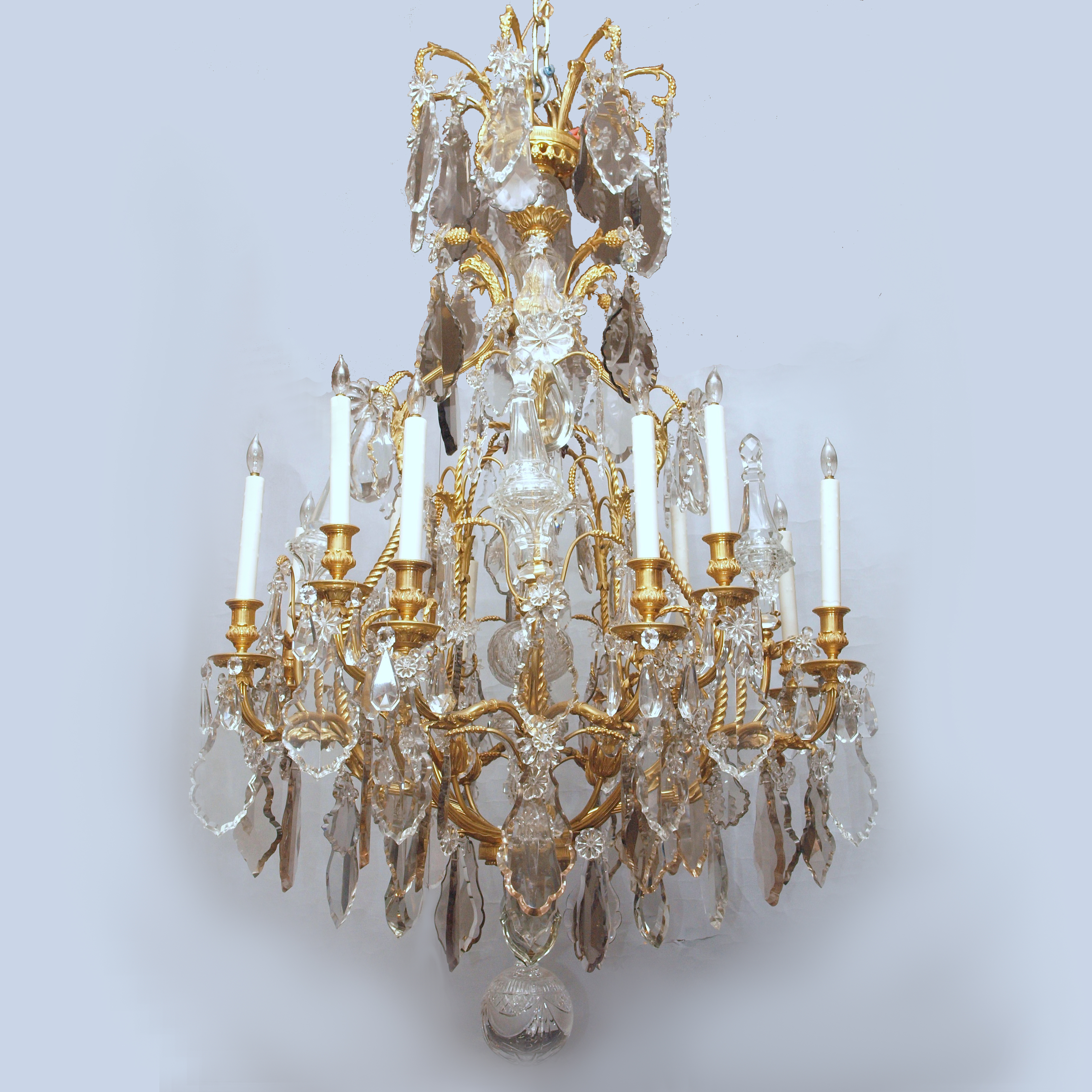 Antique French Ormolu and Baccarat Crystal Chandelier circa 1840 ...