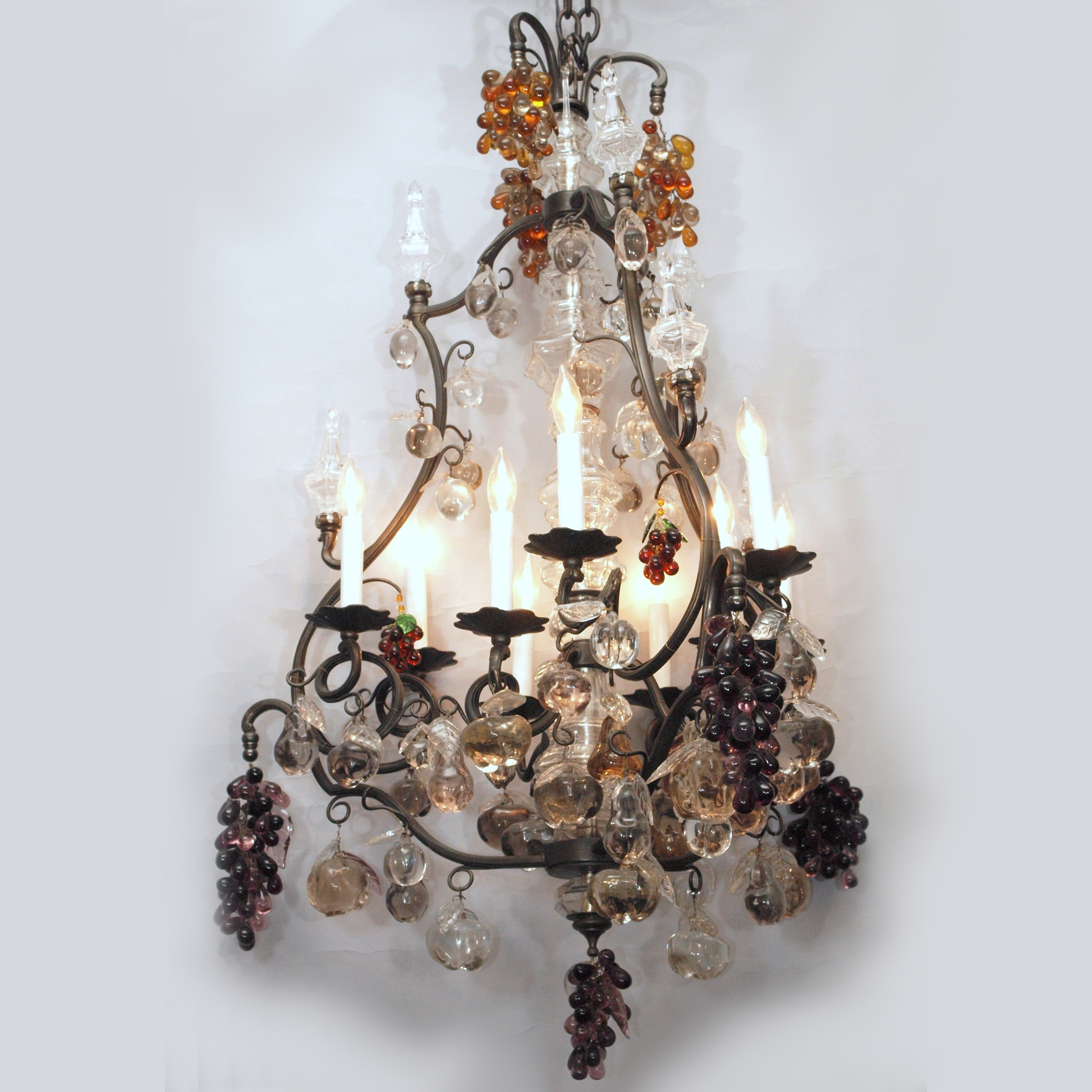 Antique french bronze and baccarat multicolored prisms fruit antique french bronze and baccarat multicolored prisms fruit chandelier circa 1890 aloadofball Choice Image