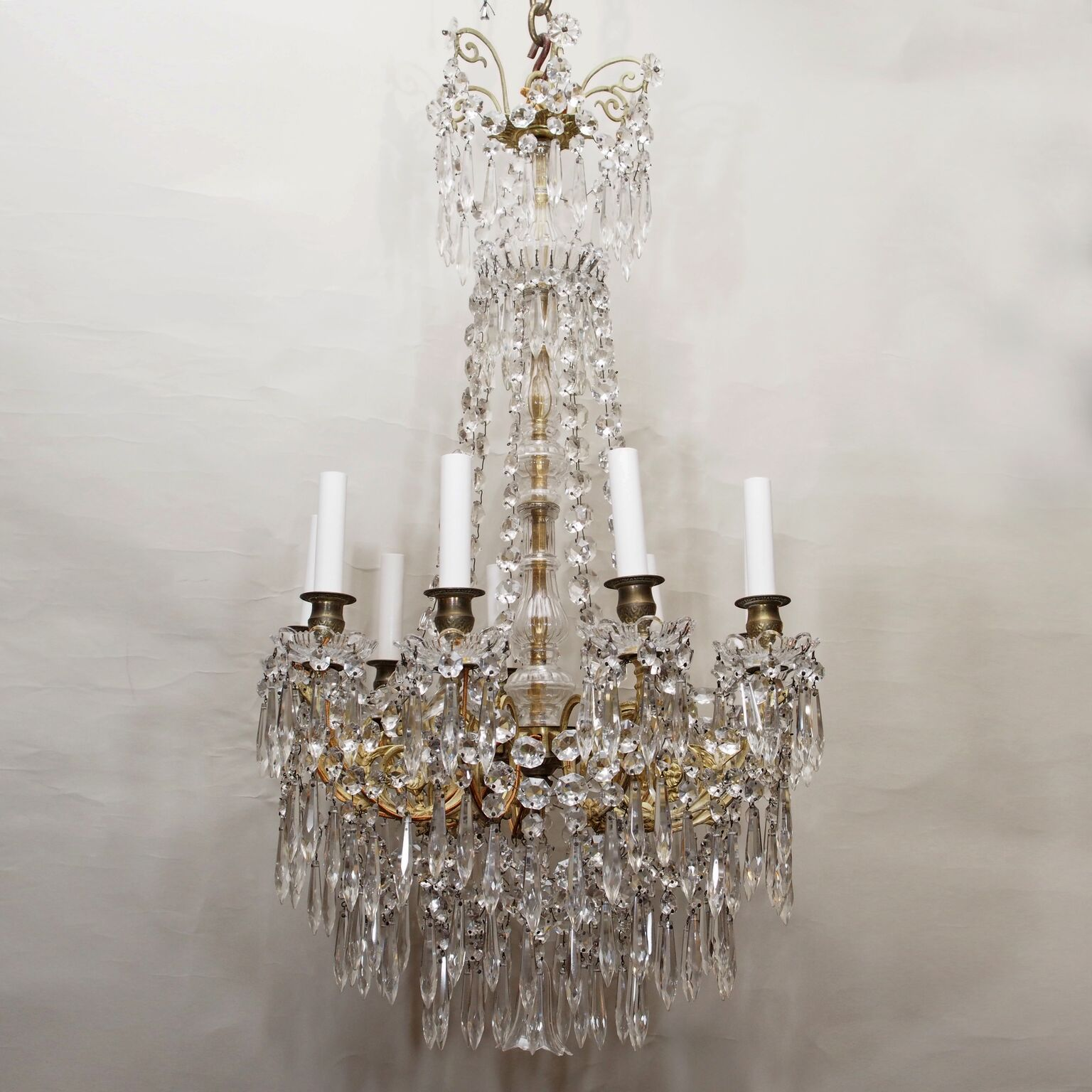 Antique richly draped signed baccarat crystal chandelier circa antique richly draped signed baccarat crystal chandelier circa 1885 1895 aloadofball Images