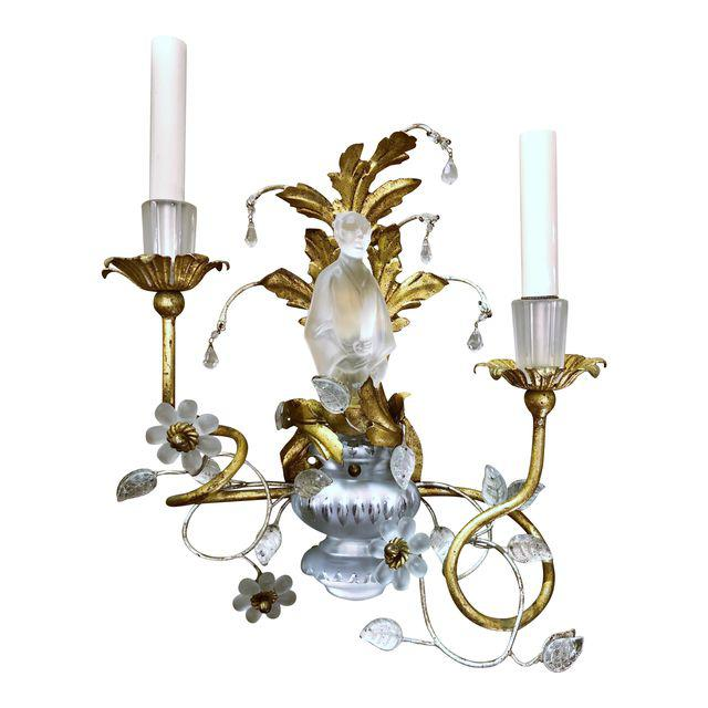 Pair Chinoiserie Sherle Wagner Art Glass Wall Sconces. | Keils ...