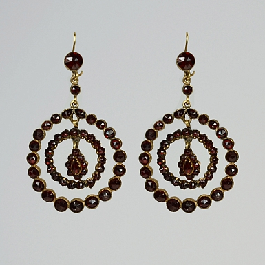 Antique Gannet Hoop Earrings